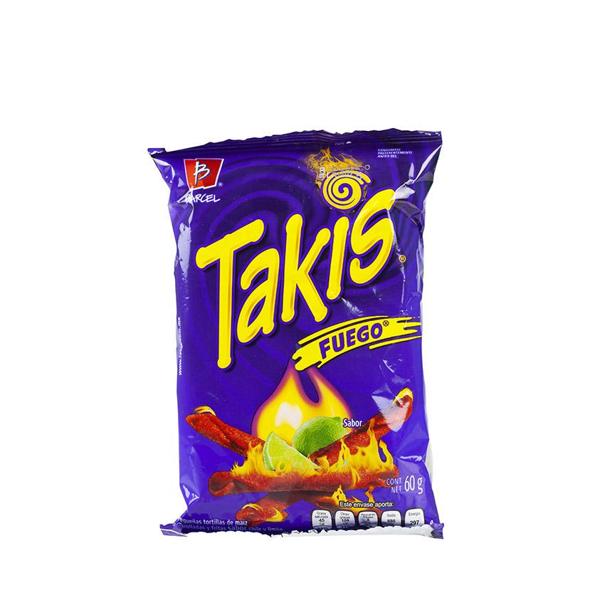 BARCEL Takis Fuego – Kleine Maistortillas – Tortillas Fritas de Maiz Sabor Chile y Limón, 68g